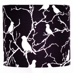 Abażur Little Birds - BLACK 25cm