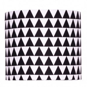 Abażur Little Triangles BLACK średnica 25cm