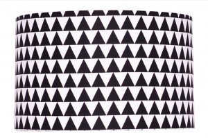 Abażur Little Triangles BLACK średnica 40cm