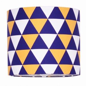 Abażur Triangles Navy Blue and Yellow średnica 25cm