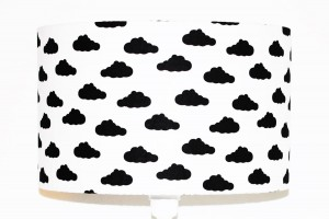 Abażur Clouds Black średnica 40cm