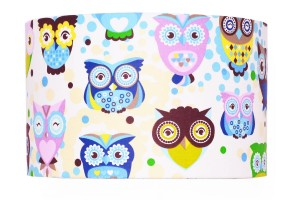 Abażur OWLS Colorful Blue średnica 40cm