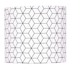 Abażur Hexagons - Black and White średnica 25cm